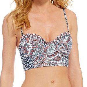 Lucky Brand Hailey paisley underwire bikini TOP